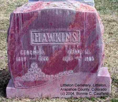 HAWKINS, ZELLA M. - Arapahoe County, Colorado | ZELLA M. HAWKINS - Colorado Gravestone Photos