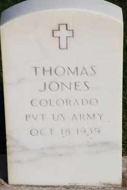 JONES, THOMAS - Arapahoe County, Colorado   THOMAS JONES - Colorado Gravestone Photos