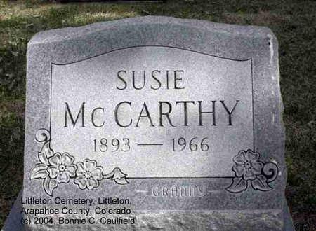 MCCARTHY, SUSIE - Arapahoe County, Colorado   SUSIE MCCARTHY - Colorado Gravestone Photos