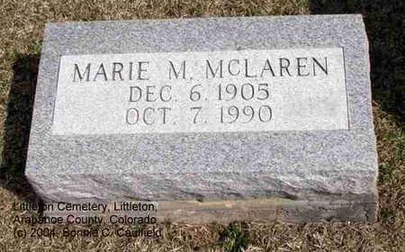 MCLAREN, MARIE M. - Arapahoe County, Colorado | MARIE M. MCLAREN - Colorado Gravestone Photos