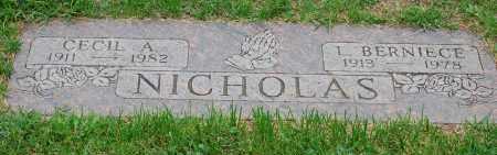 NICHOLAS, CECIL ANDREW - Arapahoe County, Colorado | CECIL ANDREW NICHOLAS - Colorado Gravestone Photos