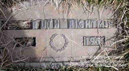 RIGHTMIRE, RUTH - Arapahoe County, Colorado   RUTH RIGHTMIRE - Colorado Gravestone Photos