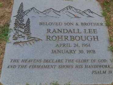 ROHRBOUGH, RANDALL LEE - Arapahoe County, Colorado   RANDALL LEE ROHRBOUGH - Colorado Gravestone Photos