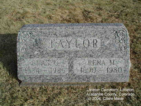 TAYLOR, RENA M. - Arapahoe County, Colorado | RENA M. TAYLOR - Colorado Gravestone Photos