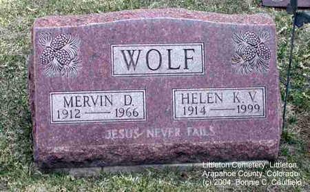 WOLF, MERVIN D. - Arapahoe County, Colorado | MERVIN D. WOLF - Colorado Gravestone Photos