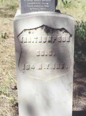 THOMPSON, JNO. - Archuleta County, Colorado | JNO. THOMPSON - Colorado Gravestone Photos