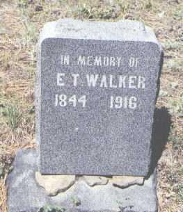 WALKER, E. T. - Archuleta County, Colorado | E. T. WALKER - Colorado Gravestone Photos