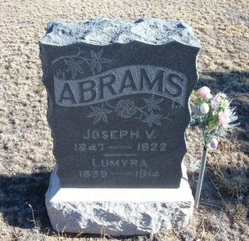 ABRAMS, JOSEPH V - Baca County, Colorado | JOSEPH V ABRAMS - Colorado Gravestone Photos