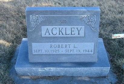 ACKLEY, ROBERT L - Baca County, Colorado   ROBERT L ACKLEY - Colorado Gravestone Photos