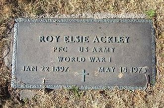 ACKLEY (VETERAN WWI), ROY ELSIE - Baca County, Colorado | ROY ELSIE ACKLEY (VETERAN WWI) - Colorado Gravestone Photos