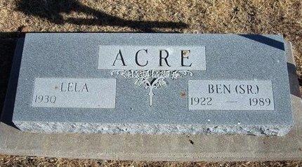 ACRE, SR, BENJAMIN THOMAS - Baca County, Colorado | BENJAMIN THOMAS ACRE, SR - Colorado Gravestone Photos