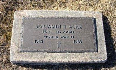 ACRE, SR (VETERAN WWII), BENJAMIN THOMAS - Baca County, Colorado | BENJAMIN THOMAS ACRE, SR (VETERAN WWII) - Colorado Gravestone Photos
