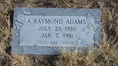 ADAMS, A RAYMOND - Baca County, Colorado   A RAYMOND ADAMS - Colorado Gravestone Photos