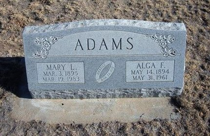 ADAMS, ALGA F - Baca County, Colorado | ALGA F ADAMS - Colorado Gravestone Photos