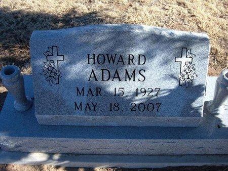 ADAMS, HOWARD - Baca County, Colorado | HOWARD ADAMS - Colorado Gravestone Photos