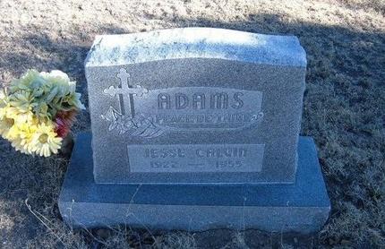 ADAMS, JESSE CALVIN - Baca County, Colorado | JESSE CALVIN ADAMS - Colorado Gravestone Photos
