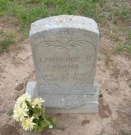 ADAMS, LAWRENCE H - Baca County, Colorado   LAWRENCE H ADAMS - Colorado Gravestone Photos