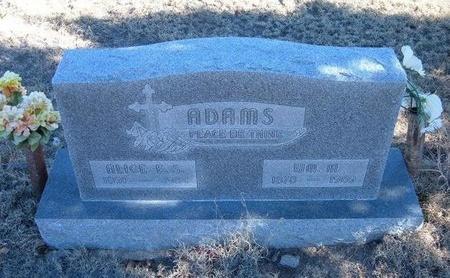 ADAMS, ALICE ELIZABETH - Baca County, Colorado | ALICE ELIZABETH ADAMS - Colorado Gravestone Photos