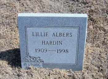 HARDIN ALBERS, LILLIE - Baca County, Colorado | LILLIE HARDIN ALBERS - Colorado Gravestone Photos