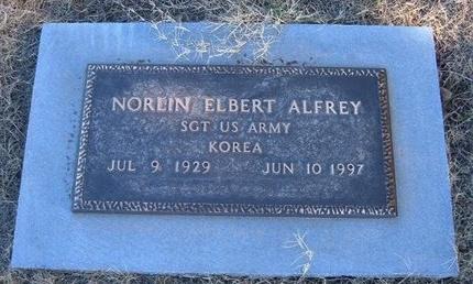 ALFREY (VETERAN KOR), NORLIN ELBERT - Baca County, Colorado | NORLIN ELBERT ALFREY (VETERAN KOR) - Colorado Gravestone Photos