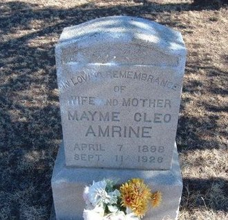 AMRINE, MAYME CLEO - Baca County, Colorado   MAYME CLEO AMRINE - Colorado Gravestone Photos