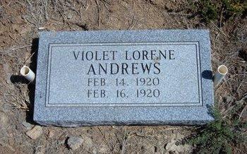 ANDREWS, VIOLET LORENE - Baca County, Colorado | VIOLET LORENE ANDREWS - Colorado Gravestone Photos