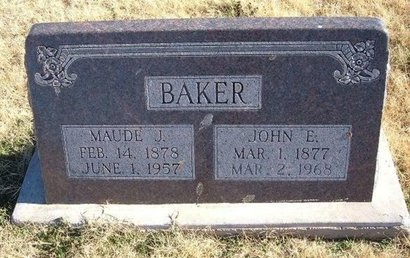 TEMPLE BAKER, MAUDE J - Baca County, Colorado | MAUDE J TEMPLE BAKER - Colorado Gravestone Photos