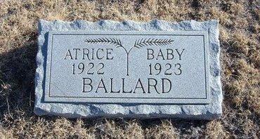 BALLARD, ATRICE - Baca County, Colorado | ATRICE BALLARD - Colorado Gravestone Photos