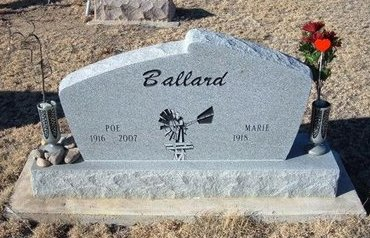 "BALLARD, EDGAR P. ""POE"" - Baca County, Colorado | EDGAR P. ""POE"" BALLARD - Colorado Gravestone Photos"