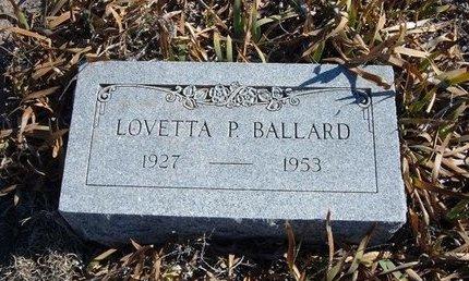 BALLARD, LOVETTA P - Baca County, Colorado | LOVETTA P BALLARD - Colorado Gravestone Photos