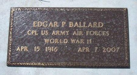 BALLARD (VETERAN WWII), EDGAR P - Baca County, Colorado   EDGAR P BALLARD (VETERAN WWII) - Colorado Gravestone Photos