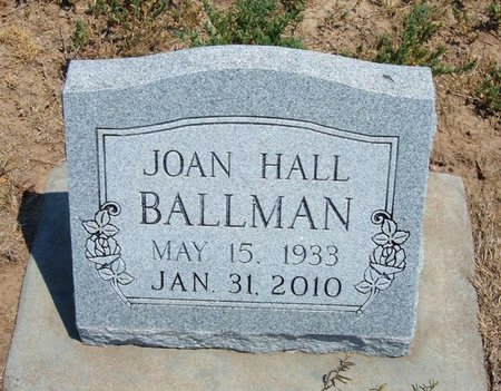 HALL BALLMAN, JOAN ELLEN - Baca County, Colorado   JOAN ELLEN HALL BALLMAN - Colorado Gravestone Photos
