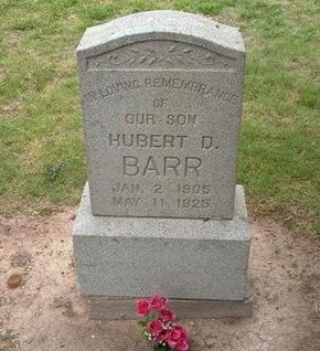 BARR, HUBERT D - Baca County, Colorado | HUBERT D BARR - Colorado Gravestone Photos