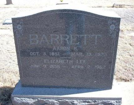 BARRETT, AARON H - Baca County, Colorado   AARON H BARRETT - Colorado Gravestone Photos
