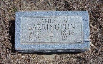 BARRINGTON, JAMES W - Baca County, Colorado   JAMES W BARRINGTON - Colorado Gravestone Photos