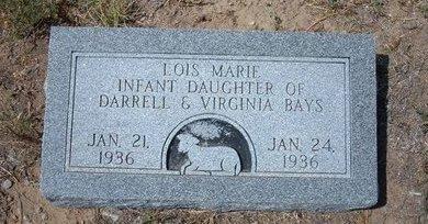 BAYS, LOIS MARIE - Baca County, Colorado | LOIS MARIE BAYS - Colorado Gravestone Photos