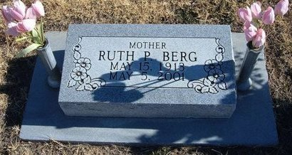 BERG, RUTH P - Baca County, Colorado | RUTH P BERG - Colorado Gravestone Photos