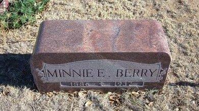GRAHAM BERRY, MINNIE ELLEN - Baca County, Colorado   MINNIE ELLEN GRAHAM BERRY - Colorado Gravestone Photos