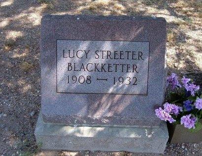 STREETER BLACKKETTER, LUCY - Baca County, Colorado | LUCY STREETER BLACKKETTER - Colorado Gravestone Photos