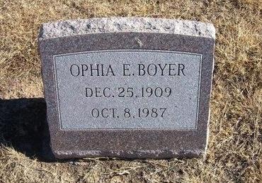BOYER, OPHIA E - Baca County, Colorado | OPHIA E BOYER - Colorado Gravestone Photos