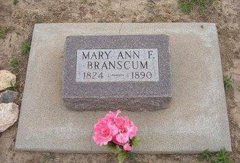BRANSCUM, MARY ANN F - Baca County, Colorado | MARY ANN F BRANSCUM - Colorado Gravestone Photos