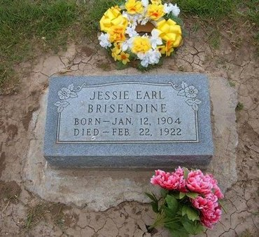 BRISENDINE, JESSIE EARL - Baca County, Colorado | JESSIE EARL BRISENDINE - Colorado Gravestone Photos