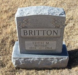BRITTON, EDITH M - Baca County, Colorado | EDITH M BRITTON - Colorado Gravestone Photos