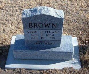 BROWN, ABBIE - Baca County, Colorado | ABBIE BROWN - Colorado Gravestone Photos