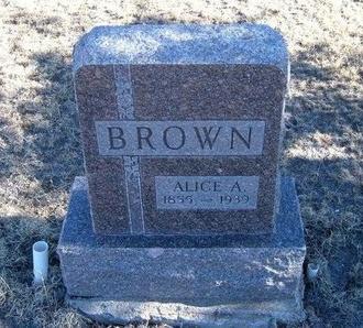 BROWN, ALICE - Baca County, Colorado | ALICE BROWN - Colorado Gravestone Photos
