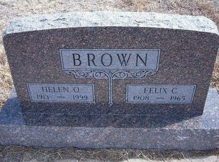 BROWN, HELEN O - Baca County, Colorado | HELEN O BROWN - Colorado Gravestone Photos