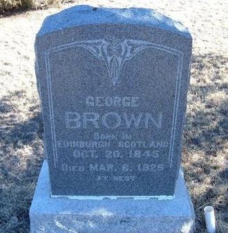 BROWN, GEORGE - Baca County, Colorado   GEORGE BROWN - Colorado Gravestone Photos