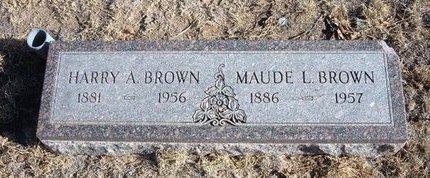 BROWN, MAUDE L - Baca County, Colorado   MAUDE L BROWN - Colorado Gravestone Photos