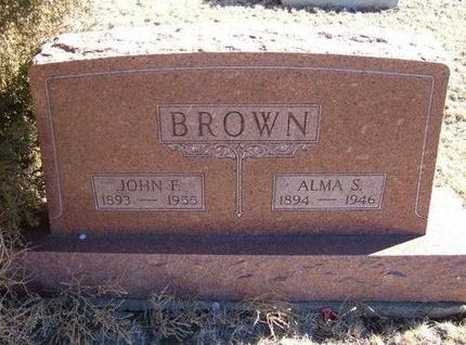 BROWN, ALMA S - Baca County, Colorado   ALMA S BROWN - Colorado Gravestone Photos