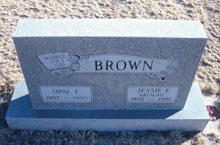 "BROWN, JESSIE F ""BROWNIE"" - Baca County, Colorado | JESSIE F ""BROWNIE"" BROWN - Colorado Gravestone Photos"